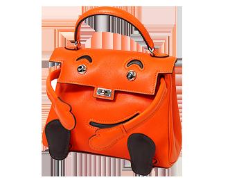 エルメス ケリードール ヴォースイフト オレンジ 画像